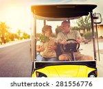 Active Elderly Senior Couple...