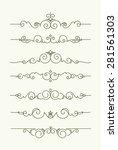 set of 7 decorative text... | Shutterstock .eps vector #281561303