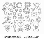 set of isolated gem stones and... | Shutterstock .eps vector #281563604