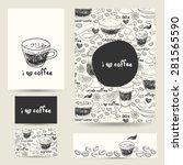 vector design template set.... | Shutterstock .eps vector #281565590