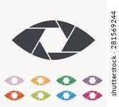 shutter eye conceptual flat... | Shutterstock .eps vector #281569244