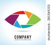 shutter eye conceptual flat... | Shutterstock .eps vector #281569253