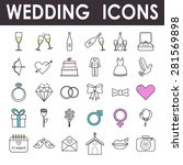 set of vector colored with a... | Shutterstock .eps vector #281569898