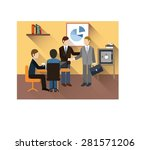 business meeting of business... | Shutterstock .eps vector #281571206