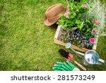 spring in the garden. flower... | Shutterstock . vector #281573249