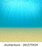 Underwater Background With Sun...