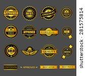 badges tag label sticker gold... | Shutterstock .eps vector #281575814