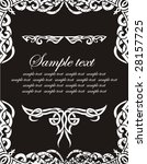 frame with place for your text   Shutterstock .eps vector #28157725