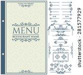 vector set of calligraphic... | Shutterstock .eps vector #281577929