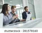 young people in the office | Shutterstock . vector #281578160