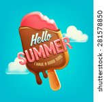 summer vector poster  label... | Shutterstock .eps vector #281578850