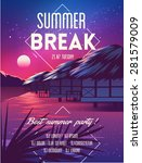 summer vector poster beach... | Shutterstock .eps vector #281579009