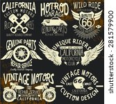 t shirt vintage logo sets for t ... | Shutterstock .eps vector #281579900