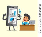 business concept cartoon... | Shutterstock .eps vector #281580659