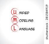uml  unified modeling language | Shutterstock .eps vector #281584919