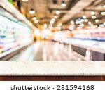 empty marble table top and... | Shutterstock . vector #281594168
