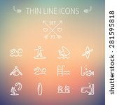 sports thin line icon set for... | Shutterstock .eps vector #281595818