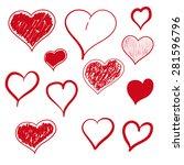vector illustration heart hand... | Shutterstock .eps vector #281596796