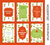 templates cards with labels.... | Shutterstock .eps vector #281600534