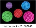 halftone sphere set.halftone... | Shutterstock .eps vector #281603840