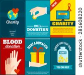 charity mini posters set with... | Shutterstock .eps vector #281608220