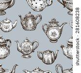 pattern of the teapots | Shutterstock .eps vector #281608238