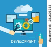 programm development concept... | Shutterstock .eps vector #281608388
