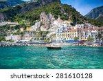 Colorful Sunny Amalfi Town...