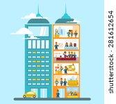 modern office building in... | Shutterstock .eps vector #281612654
