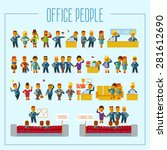 big set of cartoon office... | Shutterstock .eps vector #281612690