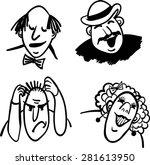 vector black and white comic... | Shutterstock .eps vector #281613950