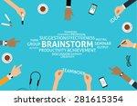 vector brainstorm concept... | Shutterstock .eps vector #281615354