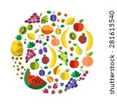vector illustration of colorful ...   Shutterstock .eps vector #281615540