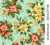 seamless pattern with beautiful ... | Shutterstock .eps vector #281615738