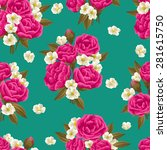seamless pattern with beautiful ... | Shutterstock .eps vector #281615750