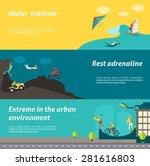 extreme sport horizontal banner ... | Shutterstock .eps vector #281616803