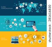 internet communication and... | Shutterstock .eps vector #281616830