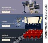 cinema horizontal banner set... | Shutterstock .eps vector #281619083
