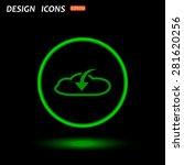 cloud download  icon. vector...   Shutterstock .eps vector #281620256