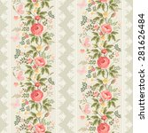 seamless pattern with floral... | Shutterstock .eps vector #281626484