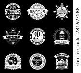 set of retro emblems for summer ... | Shutterstock .eps vector #281627588