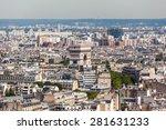 aerial view of paris in... | Shutterstock . vector #281631233