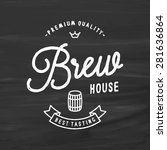 brew house logo for brewing... | Shutterstock .eps vector #281636864