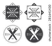set of vintage carpentry labels ... | Shutterstock . vector #281641430