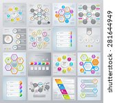 collection of infographics... | Shutterstock .eps vector #281644949