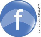 letter f vector flat icon. blue ... | Shutterstock .eps vector #281646020