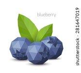 polygonal berry   blueberry....   Shutterstock .eps vector #281647019