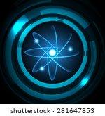 dark blue color light abstract...   Shutterstock .eps vector #281647853