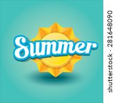 vector summer label. summer... | Shutterstock .eps vector #281648090