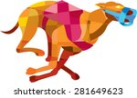 low polygon style illustration... | Shutterstock . vector #281649623